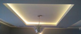 Ремонт потолка: освещение